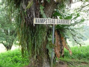 Hampstead Gardens road sign still up